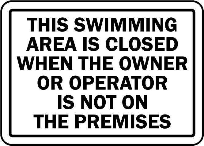 New Jersey Swim Area Closed Sign