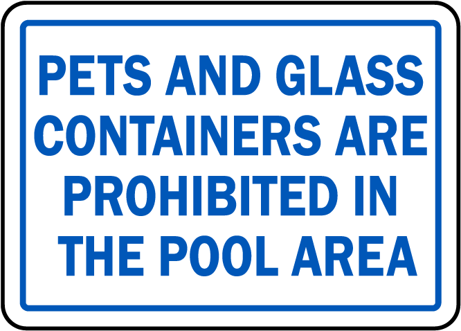 North Carolina No Pets No Glass Sign