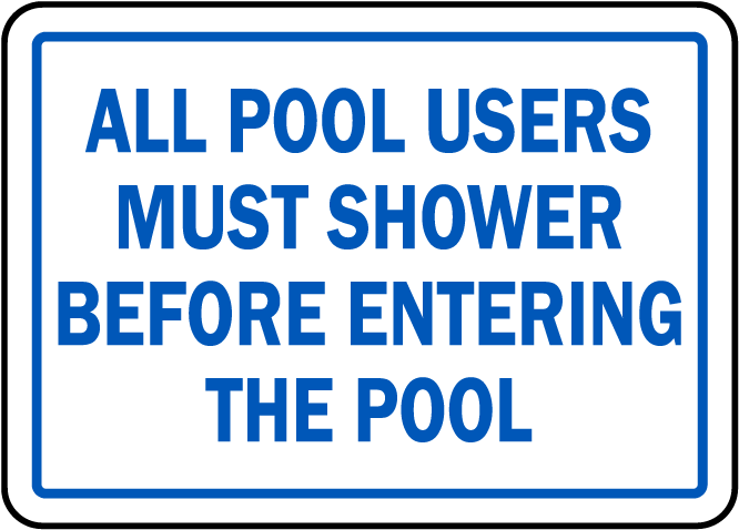 North Carolina Shower Before Entering Pool Sign