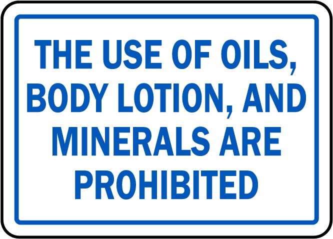 North Carolina Prohibited In Spa Sign