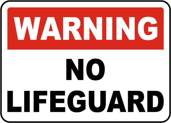 Ohio No Lifeguard Sign