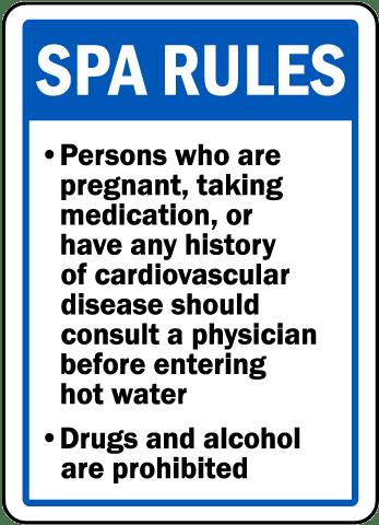 Oklahoma Spa Rules Sign