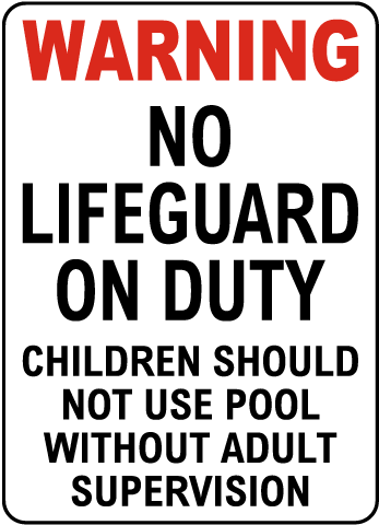 Texas No Lifeguard Sign