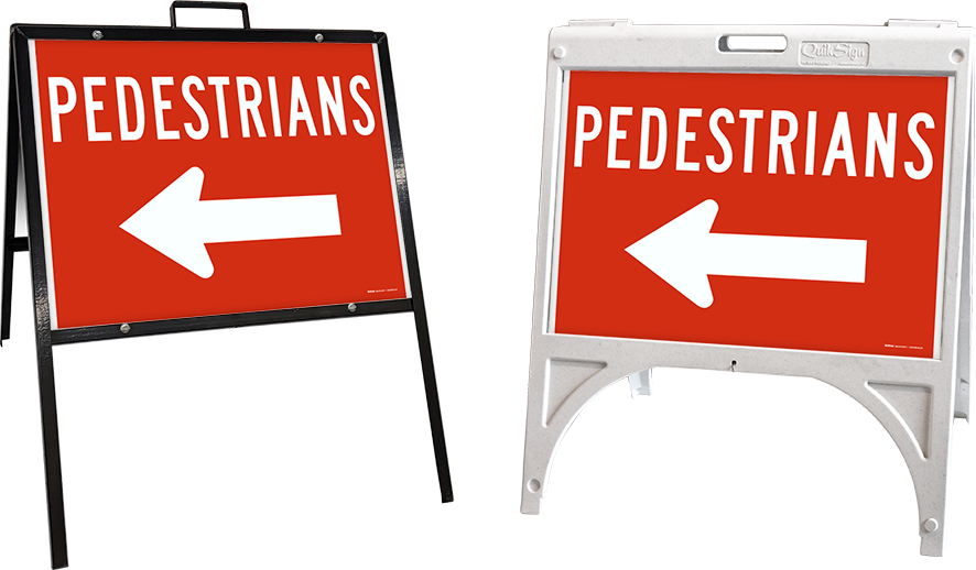 Pedestrians to the Left Sign
