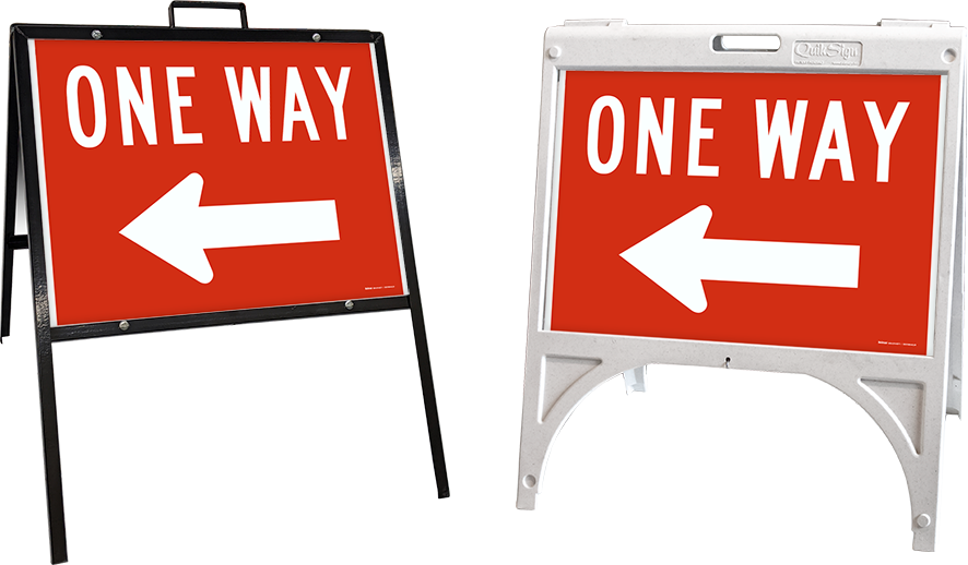 One Way Left Sign