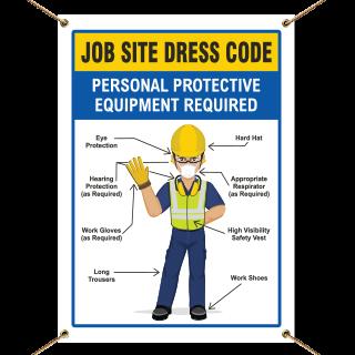 Job Site Dress Code Min. PPE Banner