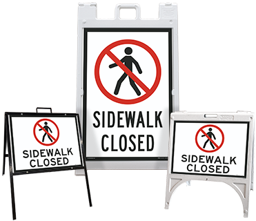 Sidewalk Closed Sandwich Board Sign