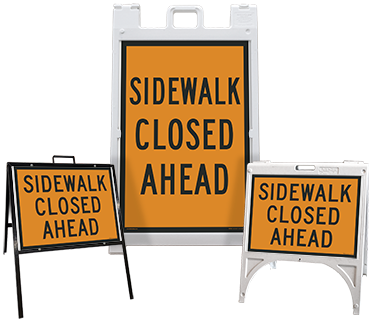 Sidewalk Closed Ahead Sandwich Board Sign