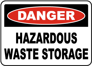 graphic regarding Free Printable Hazardous Waste Labels known as Dangerous Squander Indications Out of doors Long lasting, OSHA Compliant