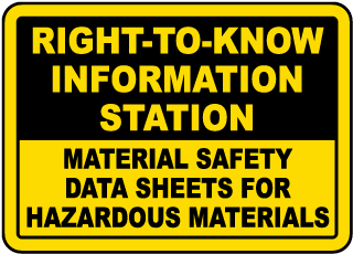 Right To Know Information Sign