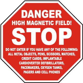 Stop Danger High Magnetic Field Sign  sc 1 st  SafetySign.com & Magnetic Field Signs Magnetic Field Warning Signs