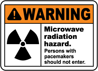 Microwave Radiation Hazard Sign