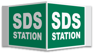 3-Way SDS Station Sign