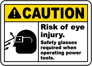 When Operating Power Tools Sign