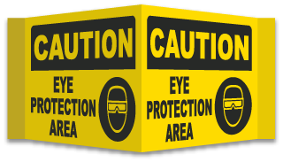 Caution Eye Protection Area Sign