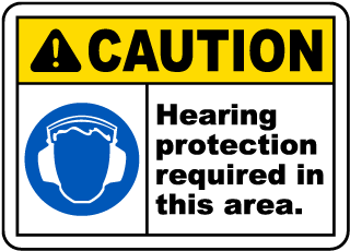 WARNING HEARING EYE PROTECTION SAFETY SIGN STICKER OSHA CONSTRUCTION