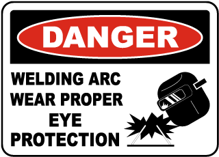 Welding Arc Wear Eye Protection Sign