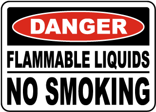 Flammable Liquids No Smoking Sign