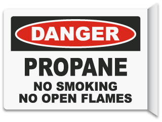 2-Way Propane No Smoking Sign