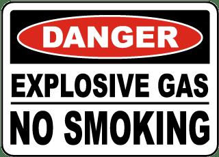 Explosive Gas No Smoking Sign