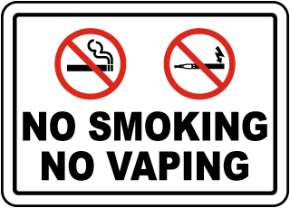 No Smoking No Vaping Label