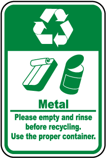 Metal Recycle Label