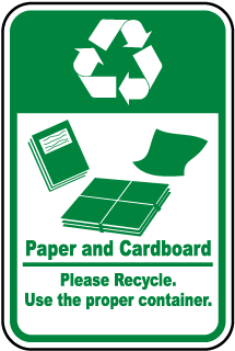 Paper & Cardboard Recycle Label