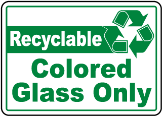 Recyclable Colored Glass Only Label