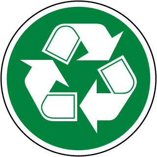 Recycle Symbol Label