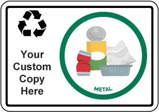 Custom Recycling Sign