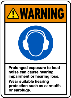 Warning Loud Noise Label