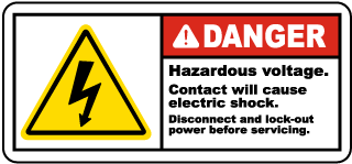 Hazardous Voltage Disconnect Label