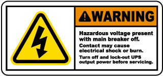 Hazardous Voltage Present Label