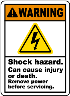 Shock Hazard Can Cause Injury Label