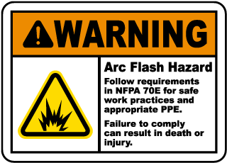 Warning Arc Flash Hazard Label