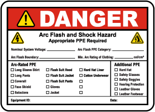 arc flash labels arc flash warning labels nfpa 70e compliant. Black Bedroom Furniture Sets. Home Design Ideas