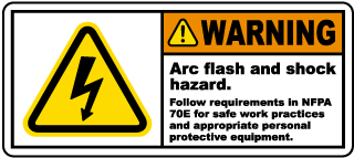 Arch flash and shock hazard follow NFPA 70E.