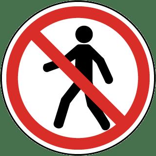 No Thoroughfare Label