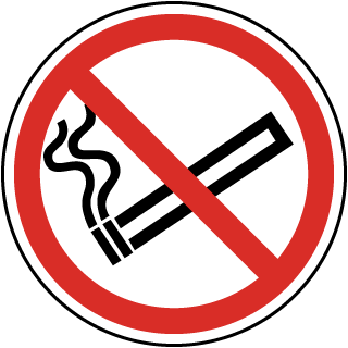 No Smoking Symbol Label
