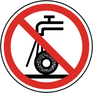 Do Not Use For Wet Grinding Label