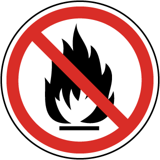 No Fire / Flame Label