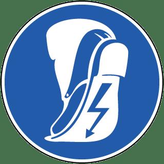 Wear Anti-Static Footwear Label