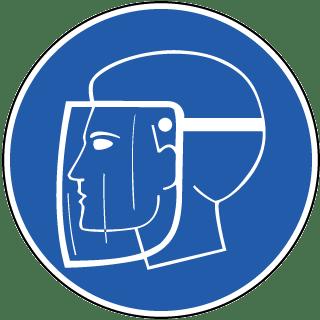 Wear Face Shield Label