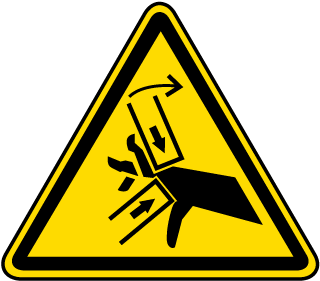 Hand Crush / Pinch Point Warning Label