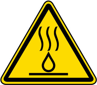 Hot Liquids Warning Label