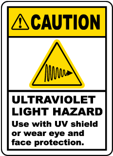 Ultraviolet Light Hazard Label