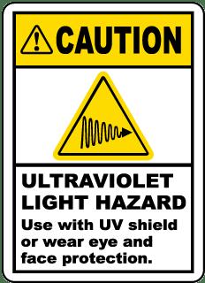 Ultraviolet Light Hazard Label
