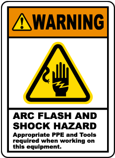 Arc Flash and Shock Hazards Label