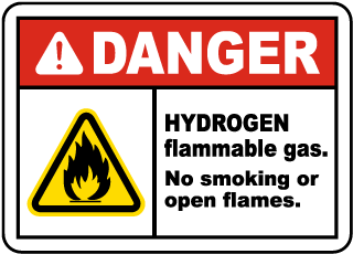 Hydrogen Flammable Gas Label