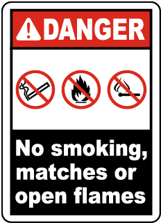 Danger No Smoking, Matches Label